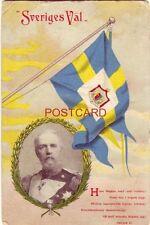 """1906 """"SVERIGES VAL"""" GA MEDSVENSKAFLAGGAN OPP! OSCAR II pre-1907"""