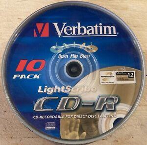 10er Spindel - Verbatim - LIGHTSCRIBE - CD-R - 700MB/80min - 1-52x - NEU