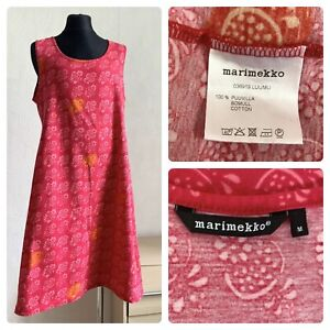 MARIMEKKO  LUUMU dress size M sleeveless red