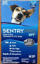 Sentry PRO XFT Dog Flea and Tick Medicine 3 Month Supply 11-20 Pounds lbs Drops