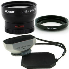 Albinar 30mm Wide Angle Lens,square Silver Hood for  Sony HDR-SR10,UX1DCR-SR42