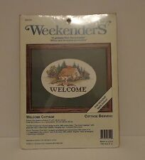 Weekenders Counted Cross Stitch Welcome Cottage Kit Green Mat Included