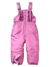 GAP NWT Baby Toddler Girl Warmest Snow Bib Suit 18-24 Months Pink Purple Ruffles