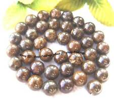 10mm natural bronzite round gemstone loose Beads 15""