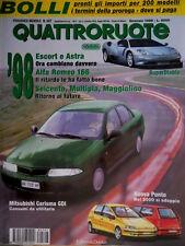Quattroruote 507 1998 Lamborghini e Maserati. Nuova Punto. Super Diablo   [Q.63]
