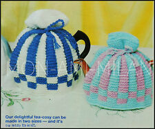 VINTAGE KNITTING PATTERN • CLASSIC TEA COSIES • COSY • 2 SIZES • DK • EASY KNIT