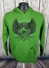TONY HAWK YOUNG MENS GREEN GRAPHIC PULLOVER HOODIE SWEATSHIRT SIZE L (BB)