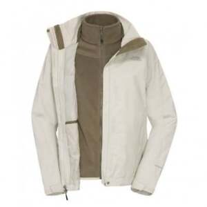 Women's The North Face Zephyr Triclimate 3 in 1 Jacket Moonlight Ivory Size XS