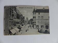 alte Postkarte Ansichtskarte Feldpost Wangen i. A. Herrenstrasse