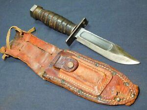 Vietnam War US Pilot Survival Fighting Knife Camillus 1968 Army USN USMC USAF