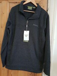 Brasher grey Fairfield quarter zip fleece size large