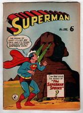 Australian SUPERMAN 100 DC Comics 1950's w Action Comics 240 cover UK