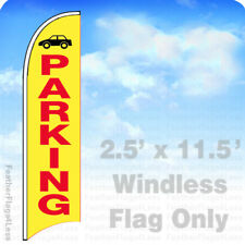 Parking - Windless Swooper Flag 2.5x11.5' Feather Banner Sign - yb