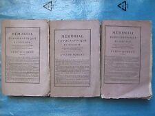 MEMORIAL TOPOGRAPHIQUE ET MILITAIRE dont Tyrol et Forêt Noire, 1803. 3 vol.