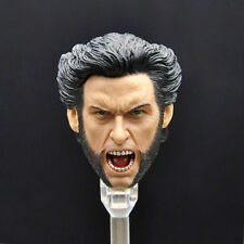 1/6 Scale Hugh Jackman Wolverine Head Sculpt For 12'' Hot Toys Body