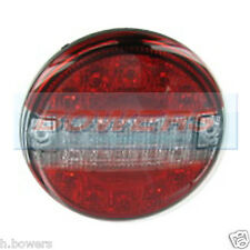 12V/24V LED CLEAR SLIM SLIMLINE FLUSH FIT REAR ROUND HAMBURGER TAIL LAMP LIGHT