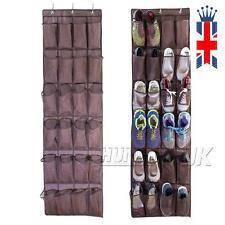 24 bolsillos sobre puerta cuelga caja  zapato colgador estante bolso organizador