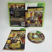 CIB Borderlands -- Game of the Year Edition (Microsoft Xbox 360, 2010) *TESTED*