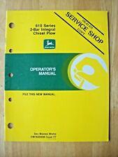 Original John Deere 610 Series 2 Bar Integral Chisel Plow Operators Manual