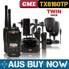 GME TX6160TP TRADIE PACK 5 WATT IP67 HANDHELD UHF CB TWO WAY TWIN RADIO KIT