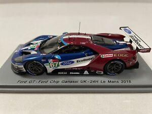 Spark 1/43 2018 Ford GT Ganassi UK 24H Le Mans Priaulx/Tincknell/Kanaan