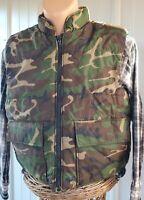 L VTG Game Winner Mens Reversible Hunting Vest Camo BLAZE ORANGE EUC