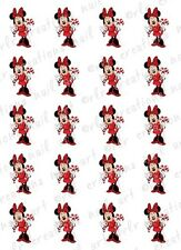 20 DISNEY CHRISTMAS NAIL DECALS * MINNIE w/ CANDY CANE *  WATER SLIDE NAIL DECAL