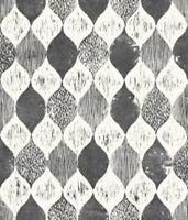 Magnolia Home Woodblock Print Black & White Wallpaper (ME1565) Free Shipping