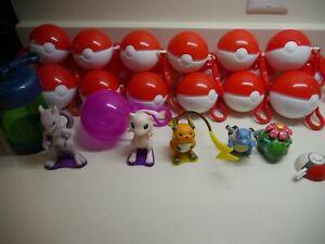 Vintage 1999 Pokemon Burger King Figures Toy / Pokeball - Mewtwo Mew - Set of 5