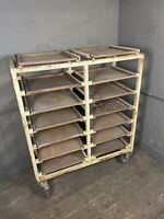 Old Potters Trolley, Pottery Wareboards, Vintage Shop Display, Florist Trolley