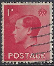 "Great Britain Stamp - Scott #231/A99 1p Crimson ""Edward Viii"" Canc/Lh 1936"