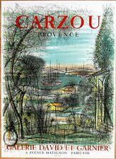 CARZOU * PROVENCE * 1960 * MOURLOT Affiche Originale lithographique
