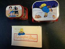 Vintage Paddington Bear Nesting Tins Lunchboxes 1987 Toscany By Eden