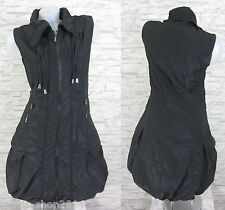 NEU Lange Weste Kleid Tunika Longshirt Schwarz Gr 42 (R730N) GLAMZ FRANSTYLE