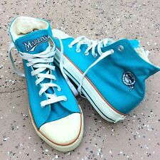 Florida MARLINS Shoes High Tops Hightop Blue Teal Miami Fish Vintage Size 38 7.5