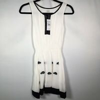 Ella Moss Girls Sz 12 Dress NWT Spring Fashion Sleeveless White Black R$74