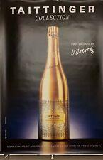 "VASARELY Affiche Originale  Champagne "" TAITTINGER COLLECTION ""   1985 118X168"
