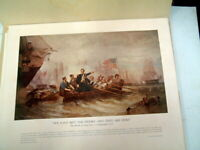 Vintage Signed Amos Doolittle R.R. Donnelly & Sons Revolutionary War Engravings
