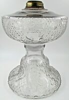 Large Antique Sewing Lamp Oil Kerosene #2 Clinch Collar Round Base Rare Pattern