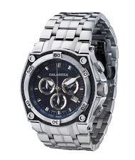 CALABRIA - AVIATORE - Blue Dial Chronograph Men's Watch with Carbon Fiber Bezel