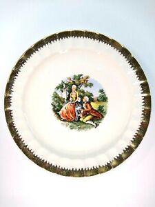 Vintage Cronin China Victorian Salad Plate Gold Trim George & Martha Washington