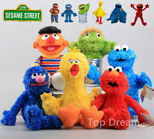 6X Sesame Street Cookie Monster Big Bird Elmo Ernie Grover Oscar Plush Toys BIG