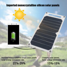 Ultra Slim 10W 5V Solar Panel USB Charger backpack Powerbank for Phone Tablet