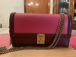 🌺🌹NWT Coach HUTTON CLUTCH SHOULDER BAG IN COLORBLOCK STYLE 889