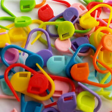 100Pc Plastic Knitting Weave Crochet Knitting Needles Clip Marker Hook Sewing F9