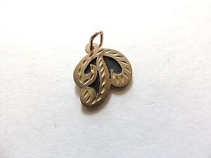 """Modern Classic Small """"Initial P"""" Gold Plated Monogram Pendant"""