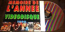INCLUS JOHNNY HALLYDAY RARE CD VIDEODISQUE LASERDISC MEMOIRE DE L ANNEE 1990