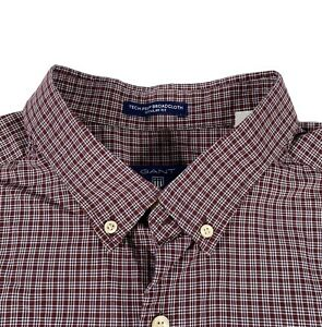 GANT Broadcloth Regular Fit Blue/Red/White Check Long Sleeve Shirt UK Size XL