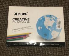 meco creative paper globe 20x20x20 cm