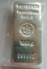Silberbarren 1.000 g der Firma Heraeus